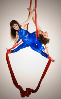 Aerial Silks Duet Circus Aerials Photo by Ryan Evans