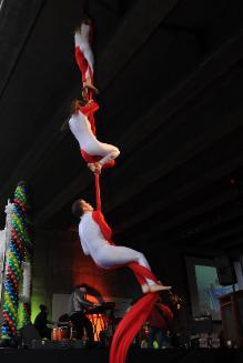 Aerial Silks Three Person Act Circus Aerials